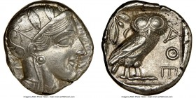 ATTICA. Athens. Ca. 440-404 BC. AR tetradrachm (23mm, 17.19 gm, 7h). NGC Choice AU 5/5 - 4/5, brushed. Mid-mass coinage issue. Head of Athena right, w...