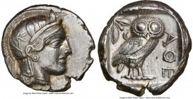ATTICA. Athens. Ca. 440-404 BC. AR tetradrachm (25mm, 17.15 gm, 1h). NGC Choice XF 5/5 - 2/5, brushed. Mid-mass coinage issue. Head of Athena right, w...