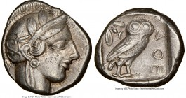 ATTICA. Athens. Ca. 440-404 BC. AR tetradrachm (24mm, 17.15 gm, 5h). NGC XF 5/5 - 4/5. Mid-mass coinage issue. Head of Athena right, wearing crested A...