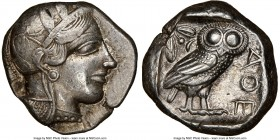 ATTICA. Athens. Ca. 440-404 BC. AR tetradrachm (23mm, 17.18 gm, 10h). NGC XF 5/5 - 3/5. Mid-mass coinage issue. Head of Athena right, wearing crested ...