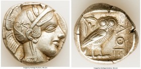ATTICA. Athens. Ca. 440-404 BC. AR tetradrachm (25mm, 17.18 gm, 11h). XF. Mid-mass coinage issue. Head of Athena right, wearing crested Attic helmet o...