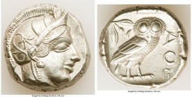 ATTICA. Athens. Ca. 440-404 BC. AR tetradrachm (24mm, 17.15 gm, 3h). XF. Mid-mass coinage issue. Head of Athena right, wearing crested Attic helmet or...