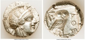 ATTICA. Athens. Ca. 440-404 BC. AR tetradrachm (25mm, 17.16 gm, 6h). Choice XF. Mid-mass coinage issue. Head of Athena right, wearing crested Attic he...