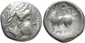"EASTERN EUROPE. Imitations of Philip II of Macedon (2nd-1st centuries BC). Drachm. ""Kapostaler Kleingeld"" type"