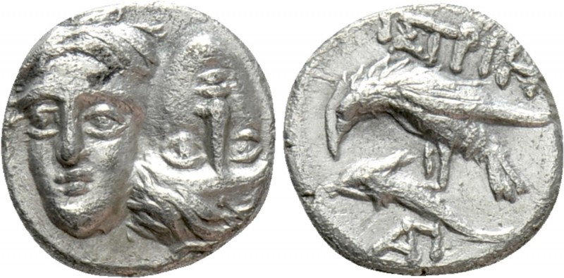 MOESIA. Istros. Trihemiobol or 1/4 Drachm (Circa 313-280 BC)