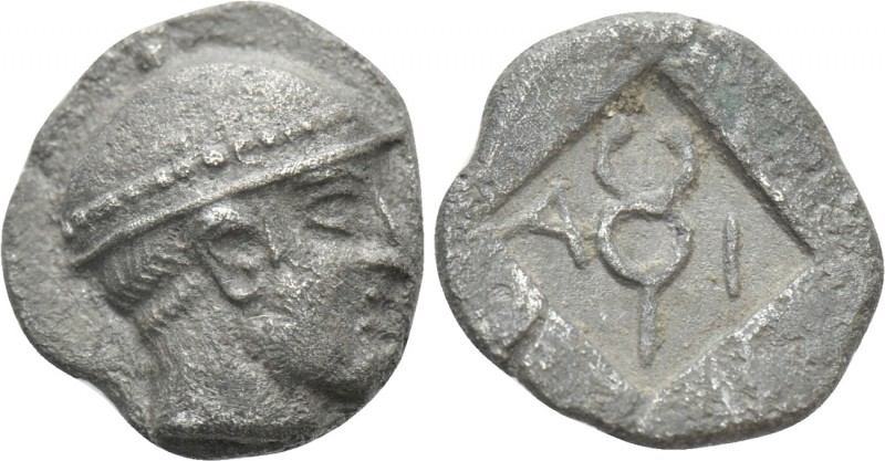 THRACE. Ainos. Diobol (Circa 464-460 BC)