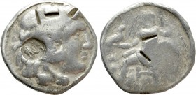 THRACE. Byzantion. Countermarked on a Tetradrachm in the name and types of Alexander III 'the Great' (336-323 BC)