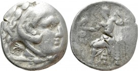 THRACE. Byzantion. Countermarked on a Odessos Tetradrachm in the name and types of Alexander III 'the Great' (336-323 BC)