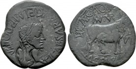 SPAIN. Turiaso. Tiberius (14-37). Ae As. L. Caecilius Aquinus and M. Gels Palud-, duoviri