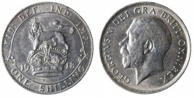 Great Britain. Giorgio V. One shilling 1918 Ag gr. 5,66. mSPL