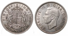 Great Britain. Giorgio VI. Crown 1937 Ag 0.500 gr. 28,3 mm 38,7 SPL