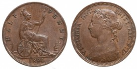 Great Britain. Victoria half penny 1894
