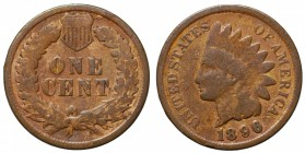 "United States. One cent ""Indian Head"" 1896"