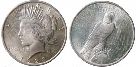 United States. Peace Dollar 1923 Ag. qFDC