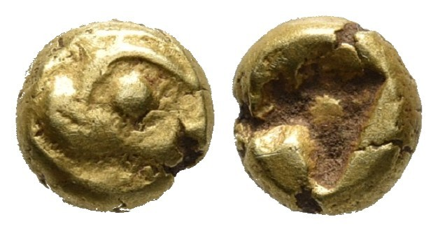 Ionia, uncertain mint (Phokaia?), EL 1/24 stater, ca. 625-550 BC Head of seal (?...