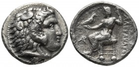 Kings of Macedonia, Alexander III the Great, 336-323 BC, AR tetradrachm, Byblos Mint, ca. 330-320 BC. Head of Herakles wearing lion's scalp right Zeus...