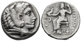 Kings of Macedonia, in the name of Alexander III the Great, 336-323 BC, posthumous issue, AR tetradrachm, Amphipolis Mint, ca. 320-317 BC. Head of Her...
