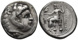 Kings of Macedonia, in the name of Alexander III the Great, 336-323 BC or later, AR tetradrachm, undetermined mint. Head of Herakles wearing lion's sc...