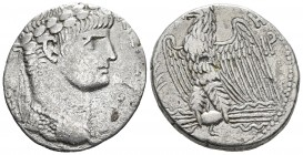 Syria, Seleucis and Pieria, Antioch, Nero 54-68 AD, dated regnal year 8 and 110 year of Casarian Era = 61/62 AD AR tetradrachm Laureate bust of Nero w...