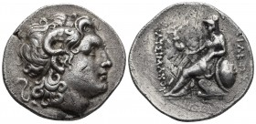 Kings of Thrace, Lysimachos 323-281 BC, lifetime issue, AR tetradrachm, undetermined mint, ca. 297-281 BC. Diademed head of the deified Alexander the ...