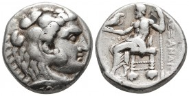 Kings of Macedonia, Alexander III the Great, 336-323 BC, posthumous issue, AR tetradrachm, Tyre Mint, dated year 30 of King Azemilkos, ca. 317-316 BC....