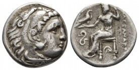 Kings of Macedonia, in the name of Alexander III the Great, 336-323 BC, posthumous issue, AR drachm, Lampsakos Mint, ca. 323-317 BC. Head of Herakles ...