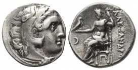Kings of Macedonia, in the name of Alexander III the Great, 336-323 BC, posthumous issue, AR drachm, AR drachm, Kolophon Mint, ca. 310-301 BC. Head of...