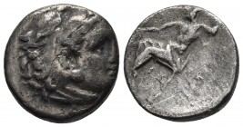 Kings of Macedonia, in the name of Alexander III the Great, 336-323 BC, posthumous issue, AR drachm, undetermined mint, late IV th/early III th BC. He...