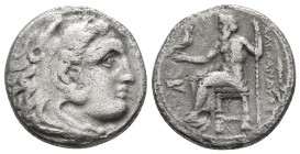 Kings of Macedonia, Alexander III the Great, 336-323 BC, posthumous issue, AR drachm, Magnesia Mint, ca. 323-319 BC. Head of Herakles wearing lion's s...