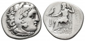 Kings of Macedonia, Philip III Arrhidaios, 323-317 BC, AR drachm, Abydos Mint. Head of Herakles wearing lion's scalp right Zeus seated left, holding e...