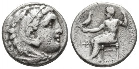 Kings of Macedonia, in the name of Alexander III the Great, 336-323 BC, posthumous issue, AR drachm, uncertain mint in Western Asia Minor, ca. 323-280...