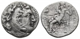 Kings of Macedonia, in the name of Alexander III the Great, 336-323 BC, posthumous issue, AR imitation of drachm, unofficial mint imitating Chios, 3rd...