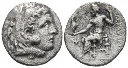 Kings of Macedonia, in the name of Alexander III the Great, 336-323 BC, posthumous issue, AR drachm, Miletos Mint, ca. 295-275 BC. Head of Herakles we...
