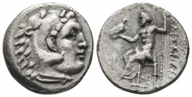 Kings of Macedonia, in the name of Alexander III the Great, 336-323 BC, posthumous issue, AR drachm, Lampsakos Mint (?), ca. 310-301 BC. Head of Herak...