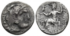 Kings of Macedonia, Alexander III the Great, 336-323 BC, posthumous issue, AR drachm, Abydos Mint, ca. 310-301 BC. Head of Herakles wearing lion's sca...
