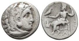Kings of Macedonia, Philip III Arrhidaios, 323-317 BC, Kolophon Mint, ca. 323-319 BC. Head of Herakles wearing lion's scalp right Zeus seated left, ho...