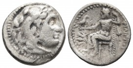 Kings of Macedonia, Philip III Arrhidaios, 323-317 BC, AR drachm, Magnesia Mint, ca. 323-319 BC. Head of Herakles wearing lion's scalp right Zeus seat...
