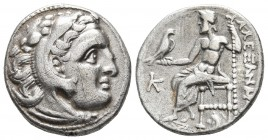 Kings of Macedonia, in the name of Alexander III the Great, 336-323 BC, posthumous issue, AR drachm, Kolophon Mint, ca. 310-301 BC. Head of Herakles w...
