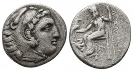 Kings of Macedonia, in the name of Alexander III the Great, 336-323 BC, posthumous issue, AR drachm, Lampsakos Mint, ca. 310-301 BC. Head of Herakles ...