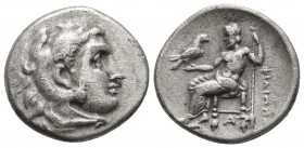 Kings of Macedonia, Philip III Arrhidaios, 323-317 BC, AR drachm, Side Mint, ca. 323-317 BC. Head of Herakles wearing lion's scalp right Zeus seated l...