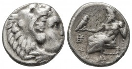 Kings of Macedonia, in the name of Alexander III the Great, 336-323 BC, posthumous issue, AR drachm, Sardes Mint, ca. 323-319 BC. Head of Herakles wea...