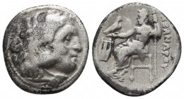 Kings of Macedonia, in the name of Alexander III the Great, 336-323 BC, posthumous issue, Kolophon Mint, ca. 323-319 BC. Head of Herakles wearing lion...