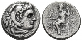 Kings of Macedonia, Alexander III the Great, 336-323 BC, posthumous issue, AR drachm, Magnesia Mint, ca. 319-305 BC. Head of Herakles wearing lion's s...