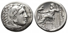 Kings of Macedonia, in the name of Alexander III the Great, 336-323 BC, posthumous issue, AR drachm, Kolophon Mint, ca. 323-319 BC. Head of Herakles w...