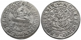 Poland, Sigismund III Vasa 1587-1632 AD, AR Ort, Danzig mint 1623 AD Crowned and armored bust of Sigismund III right Coat of arms of Danzig held by tw...