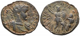 Cilicia, Seleuceia ad Calycadnum, Alexander Severus 222-235 AD, AE Radiate and cuirassed bust of Alexander Severus right Athena holding spear and shie...