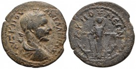 Phrygia, Akmoneia, Gallienus 253-268 AD, AE Laureate and draped bust of Gallienus right Cult statue of Artemis frontally, flanked by stags SNG Von Aul...