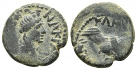 Lydia, Hermocapelia, pseudo-autonomous issue ca 2nd cent. AD, AE Turreted and draped bust of Roma Draped bust of Senate right RPC III 1877-9 17.1mm / ...