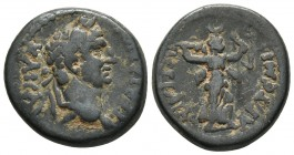 Pamphilia, Perge, Traianus 98-117 AD, AE Laureate head of Traianus right Artemis advancing right, holding bow and torch RPC III 2687 19.6mm / 5.4g
