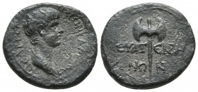 Lydia, Thyatira, Nero as caesar ca. 50-54 AD, AE Draped, bare-headed bust of Nero right Double axe RPC I 2381 18.8mm / 3.3g